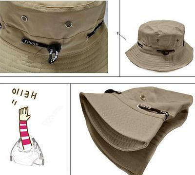 Mens Womens Fishing Bucket Hats Solid Fisher Hunt