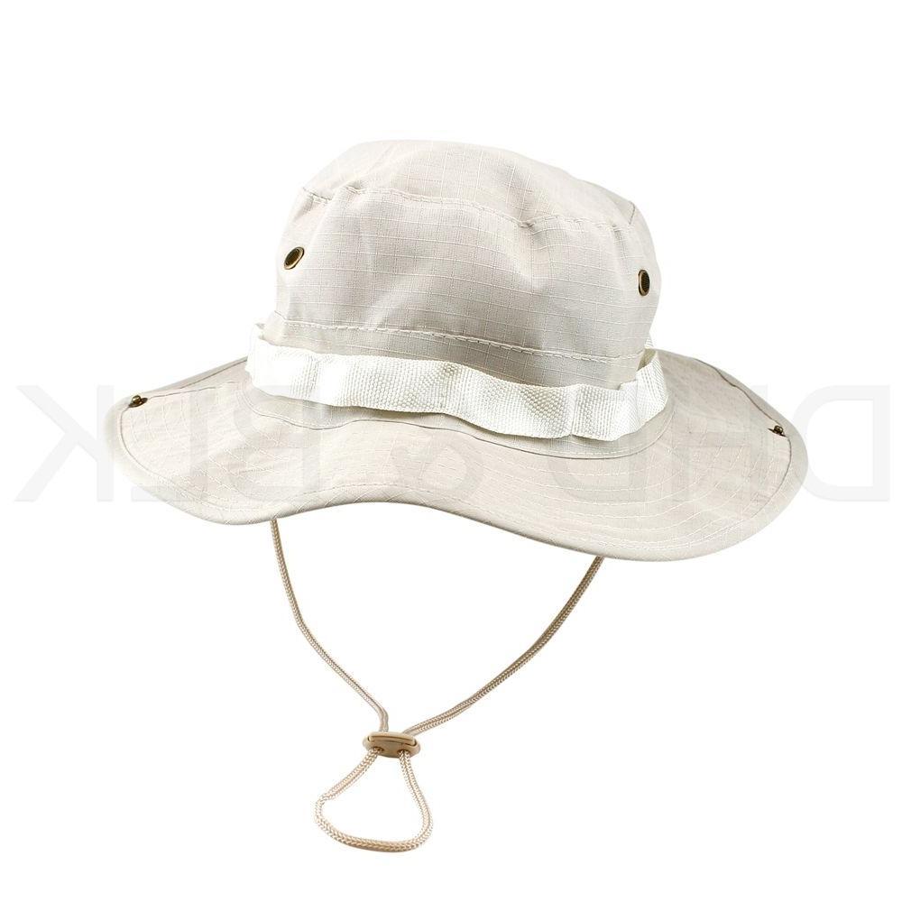 Bucket Hat Fishing Men Cap Washed NEW W/ STRINGS
