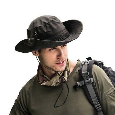 Men Bucket Hat Boonie Fishing Wide Safari Sun Cap
