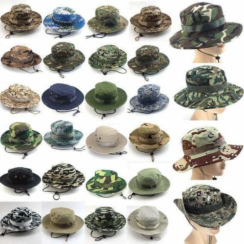 Bucket Boonie Fishing Wide Safari Camo
