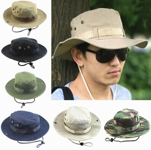 Bucket Boonie Fishing Outdoor Wide Safari Camo Cap