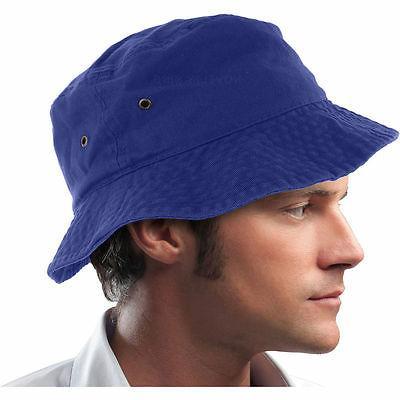 Bucket Hat Boonie 100% Cotton Fishing Hunting Safari Summer Men
