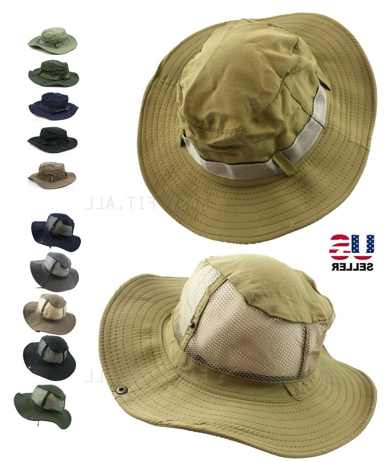 bucket hat cap boonie fishing wide brim
