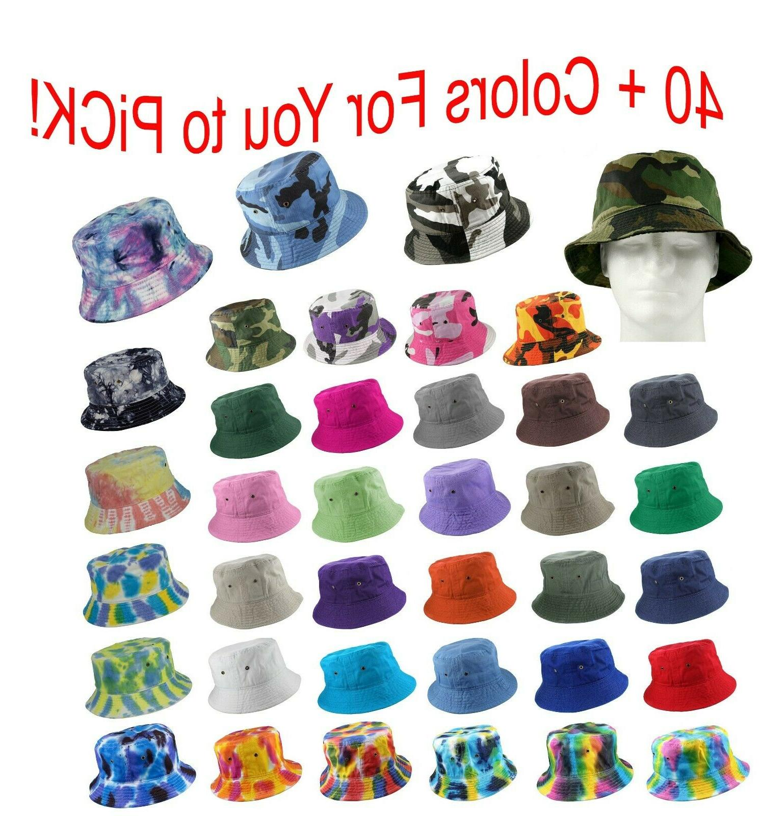 bucket hat cap cotton military fishing camping