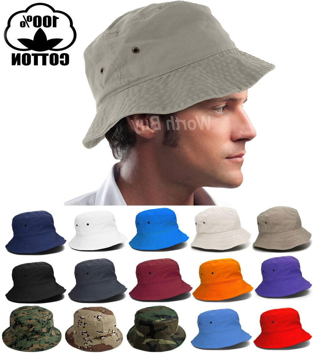 Bucket Hat Cap Fishing Boonie Brim visor Sun Safari Summer M