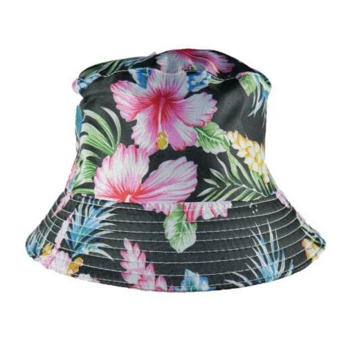 Bucket Floral Reversible Fashion Trending