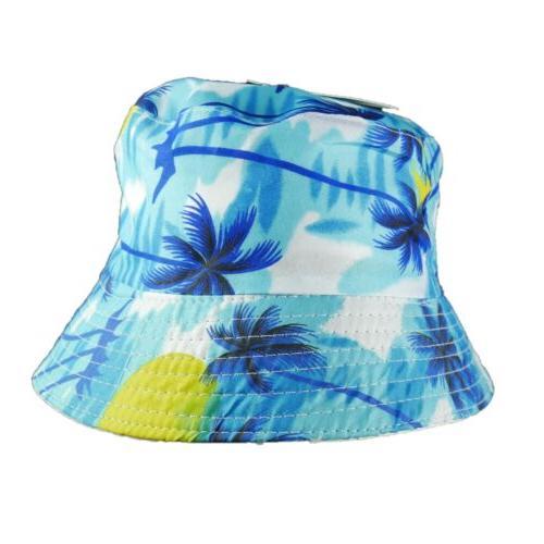 Bucket Hat Reversible Print Trending Beach