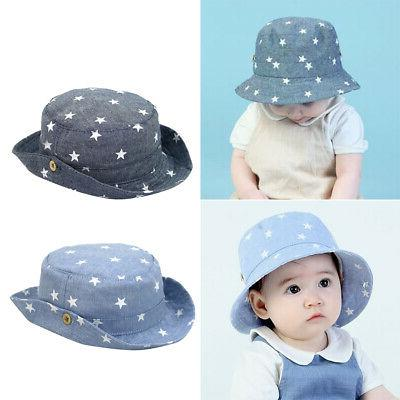 Bucket Hat for Boys and Protection Sun -Star Pattern