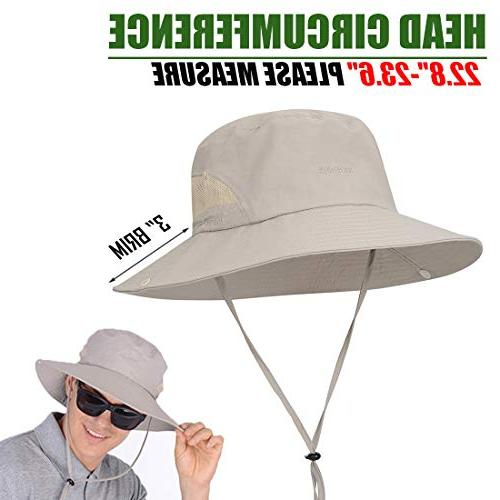 USHAKE Bucket Safari Hat Protection Hat Cap Fishing Hunting Gardening Hiking