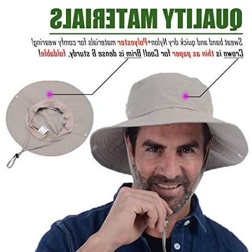 USHAKE Bucket Hat, Hat Sun Protection Hat Boonie Cap for Outdoor Fishing Hunting Hiking
