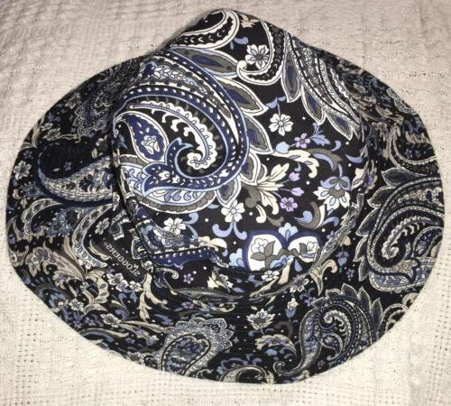 bucket hat paisley blue reversible boho festival