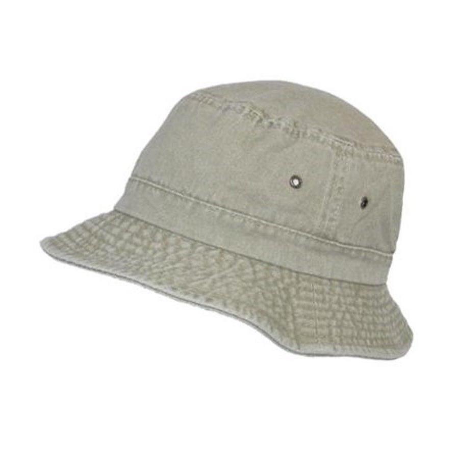 bucket hat stonewashed sand men s size