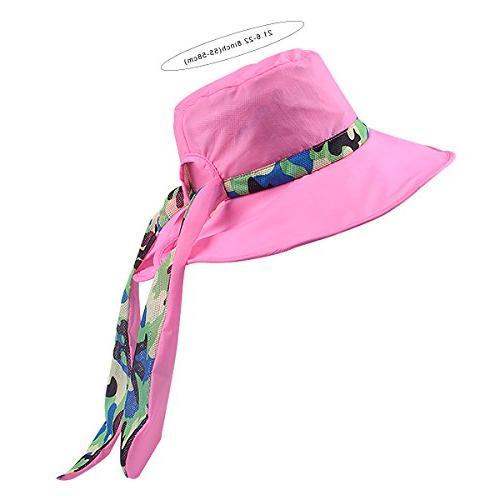 Panegy Women Hat Waterproof Big Brim Sun Hat Cap Quick Dry Reversible Camping