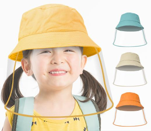 bucket hat with face shield various colors