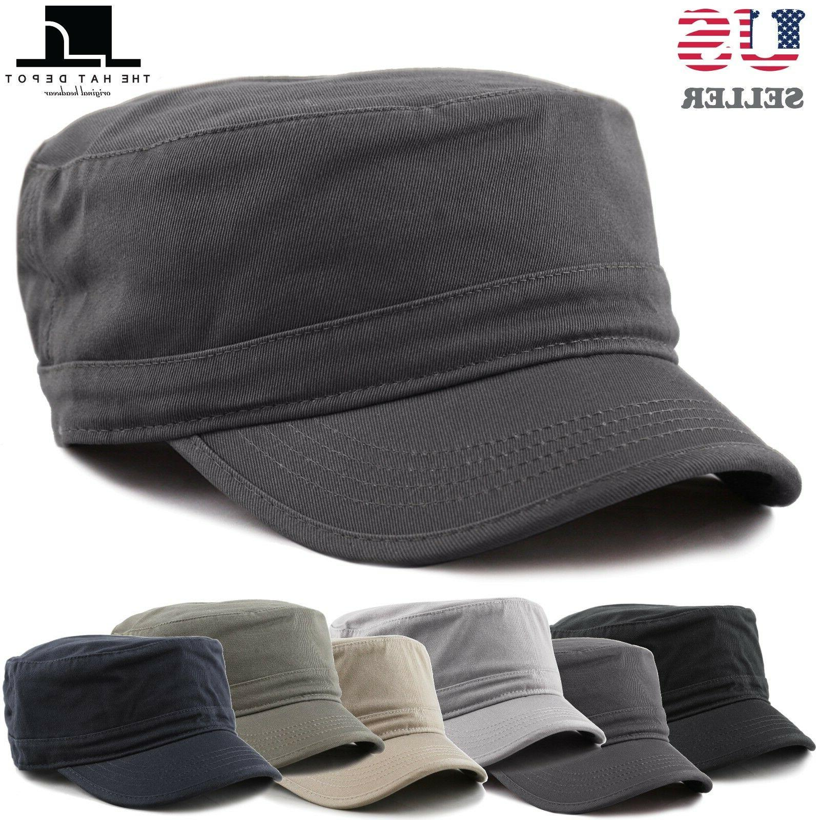 cadet army washed cotton basic cap military