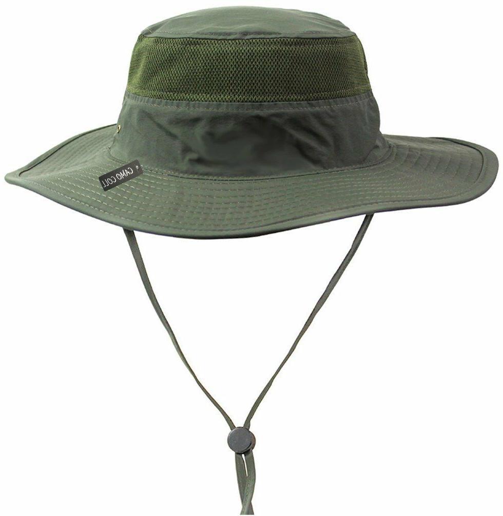 Camo Outdoor Sun Cap Boonie Hat