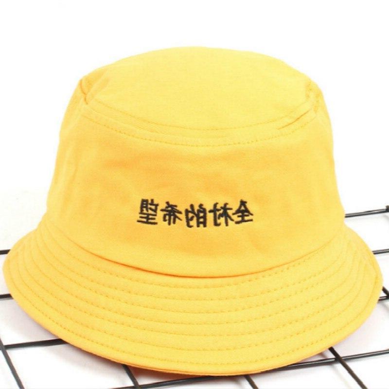 Casual Embroidery Chinese <font><b>Bucket</b></font> Hip Outdoor Summer <font><b>Hat</b></font> Women Panama Fisherman