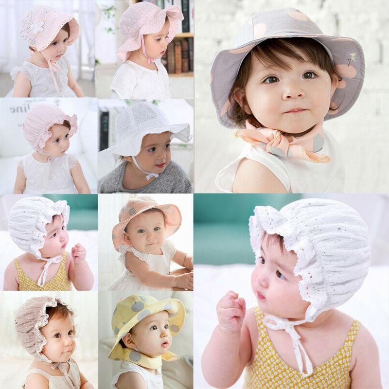 children toddler baby girls summer hats bonnet