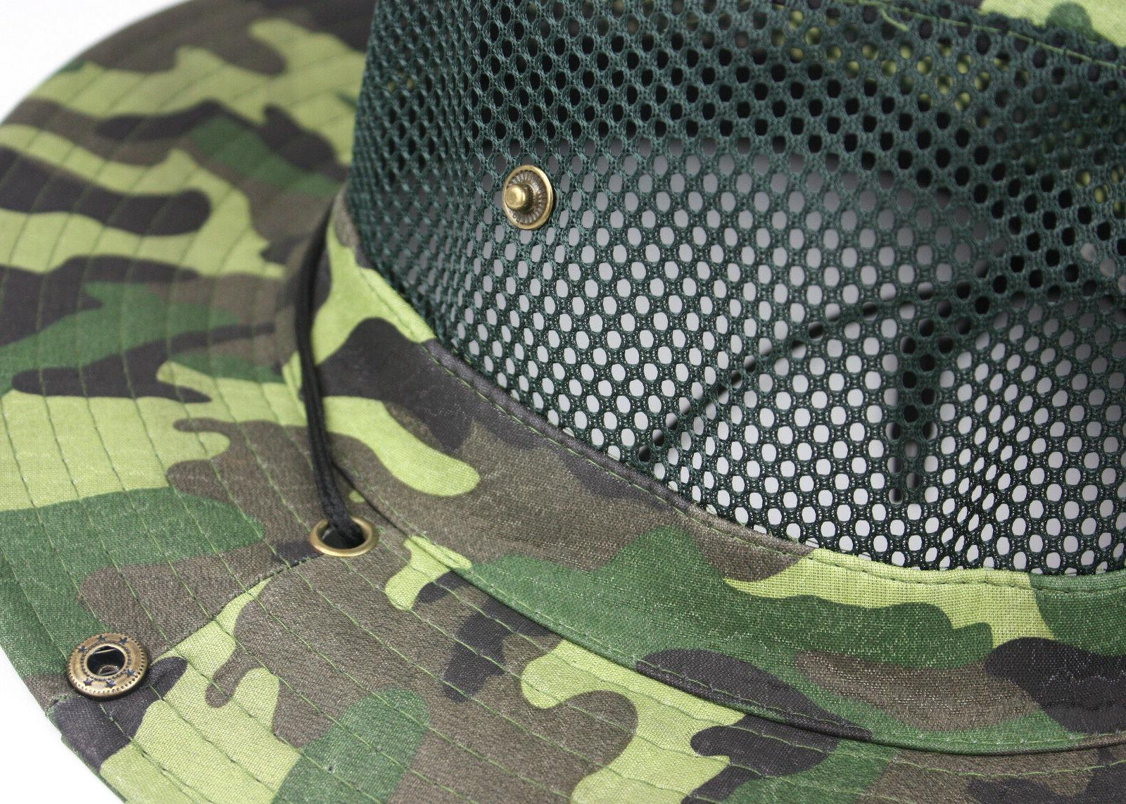 Cool Mesh Brim Camo Boonie Hunting Fishing Hiking
