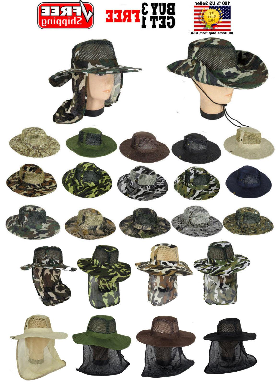 cool mesh brim camo boonie bucket hat