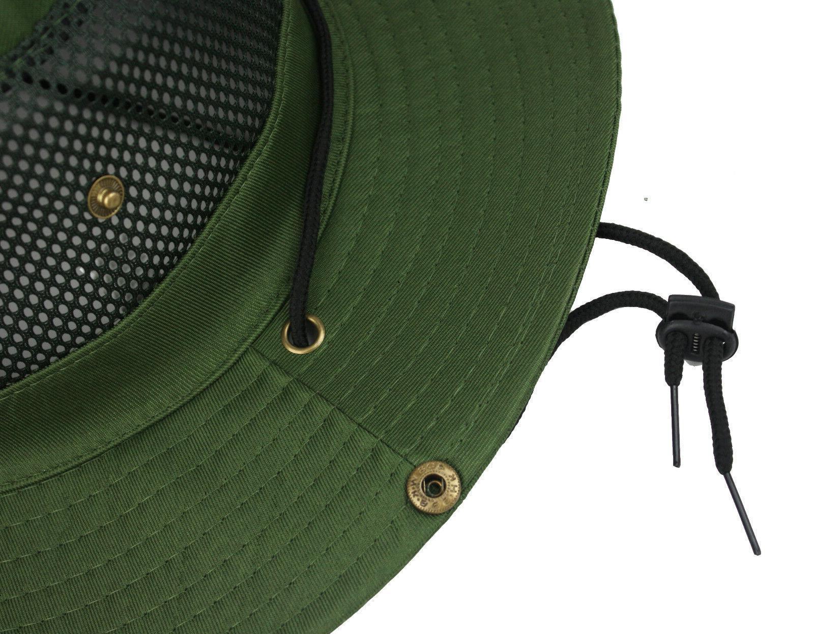 Cool Mesh Brim Boonie Bucket Hat Hunting Fishing