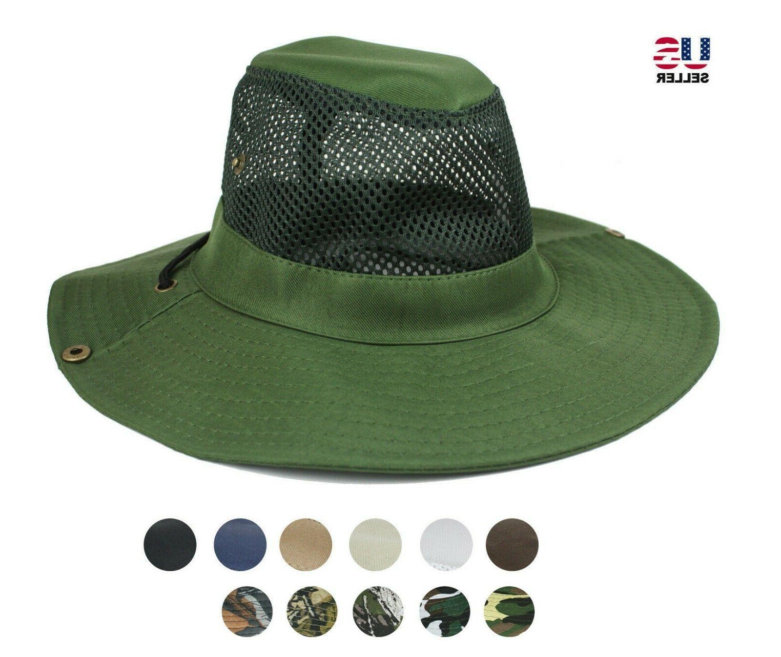 cool mesh brim solid boonie bucket hat
