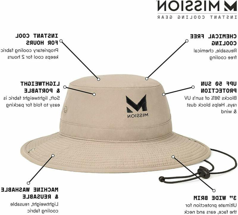"""Mission Hat For Men And UPF 50 Sun 3"""""""