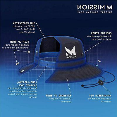 MISSION Bucket Hat- UPF Wide Brim, Cools Matrix Camo