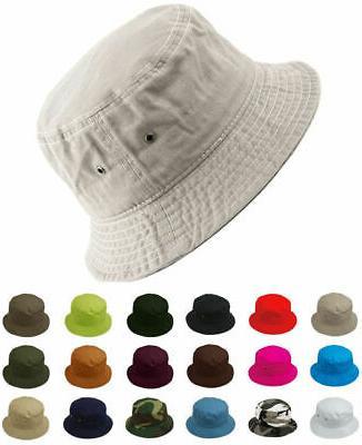 cotton bucket hat fishing hunting summer travel