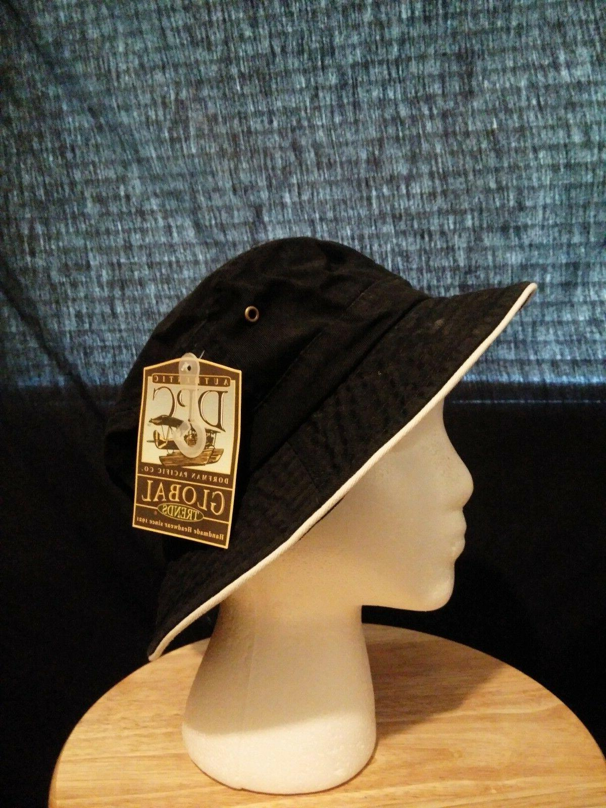 Dorfman Packable Summer Hat Black