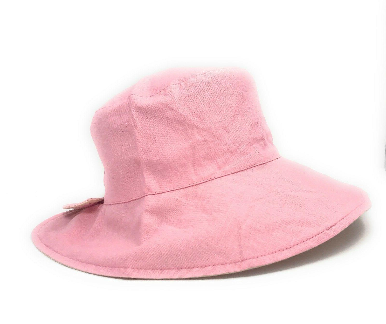 Cotton Ponytail Bucket Hats Reversible Summer Beach