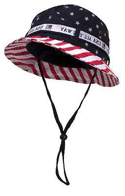 Cotton American Flag Hat All The Way