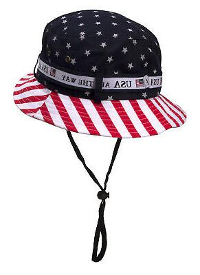 Cotton Twill Flag Bucket Hat USA All The Way