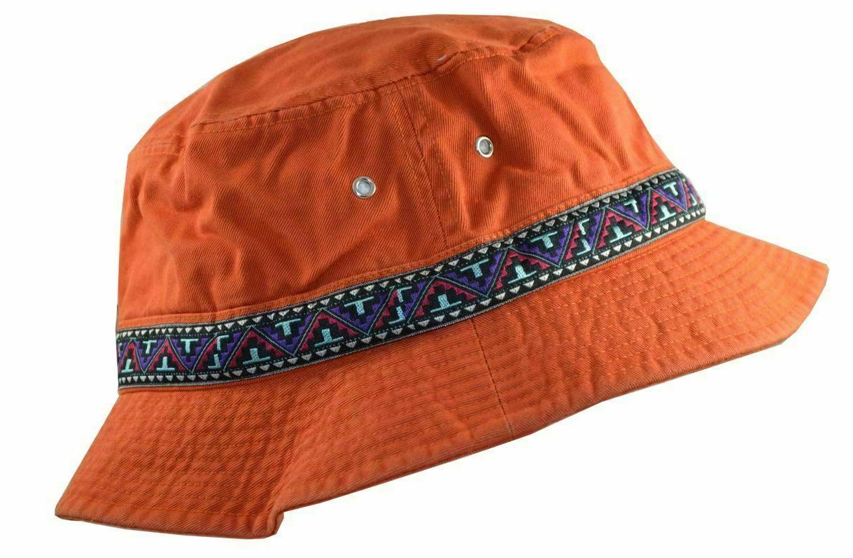 cotton twill washed bucket hat with jacquard
