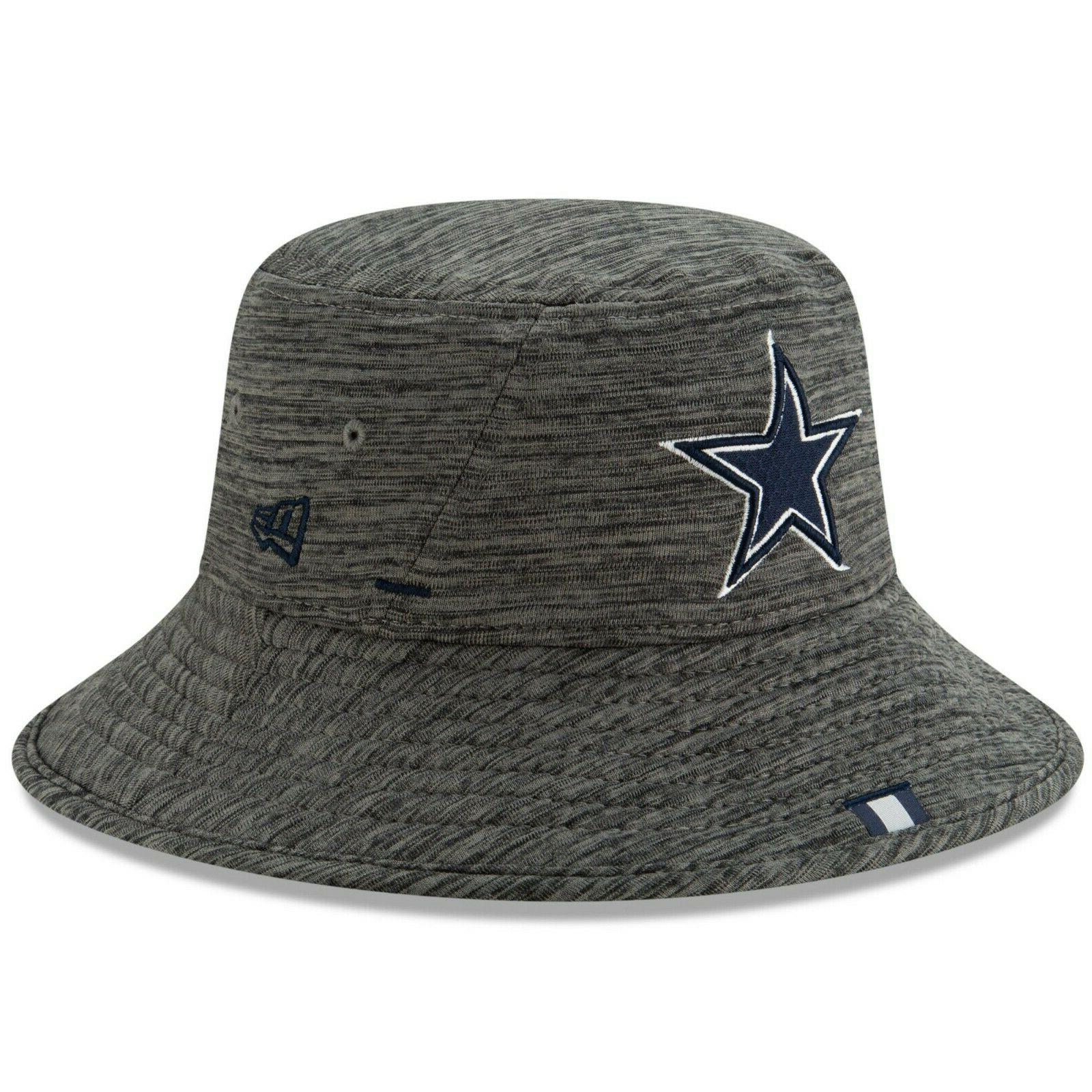 dallas cowboys graphite bucket hat 2019 training