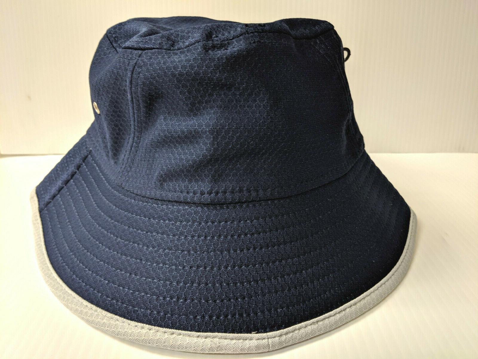 Cap Navy Hex Bucket Hat