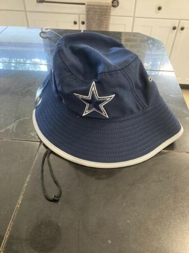 dallas cowboys cap navy hex team bucket