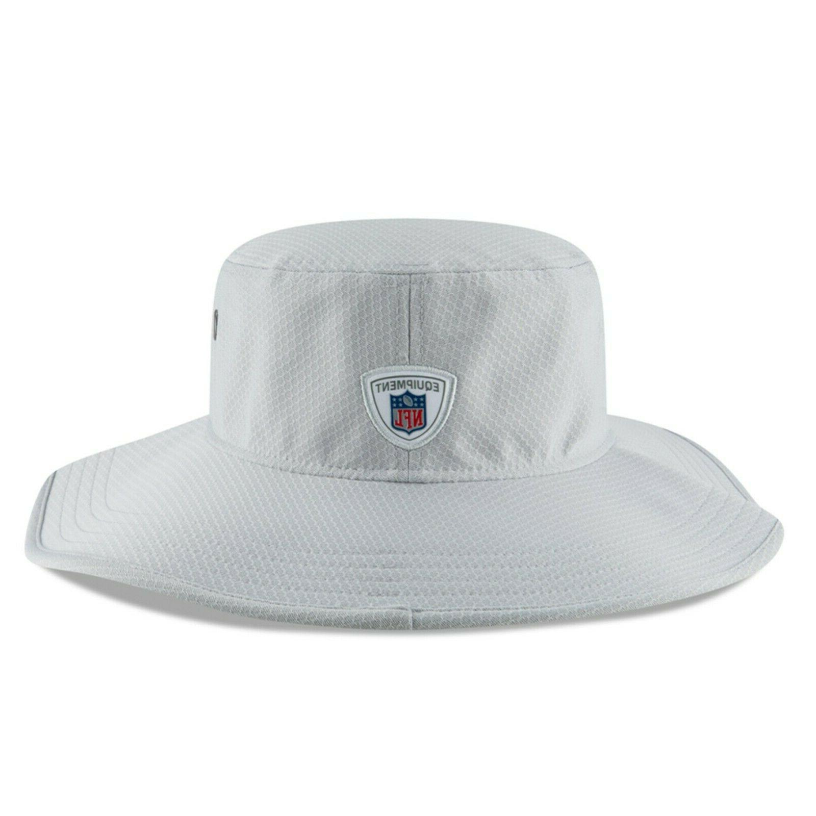 Dallas Cowboys New Era Panama Gray Training Bucket Hat Size
