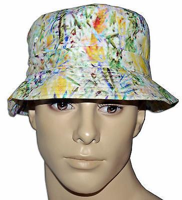 adidas Originals Blue/brown/green/white/yellow Bucket Hat