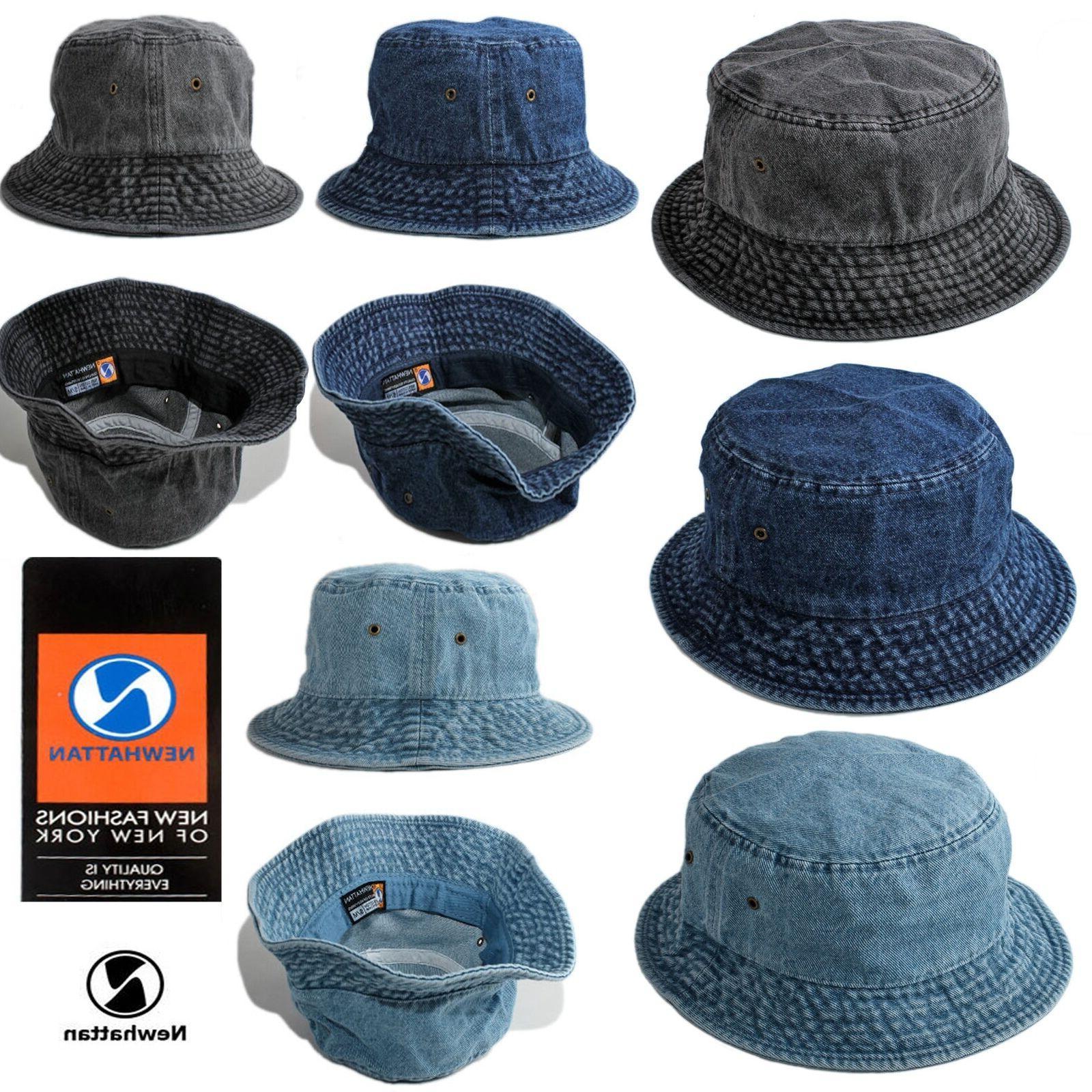 denim jeans bucket hat 100 percent cotton