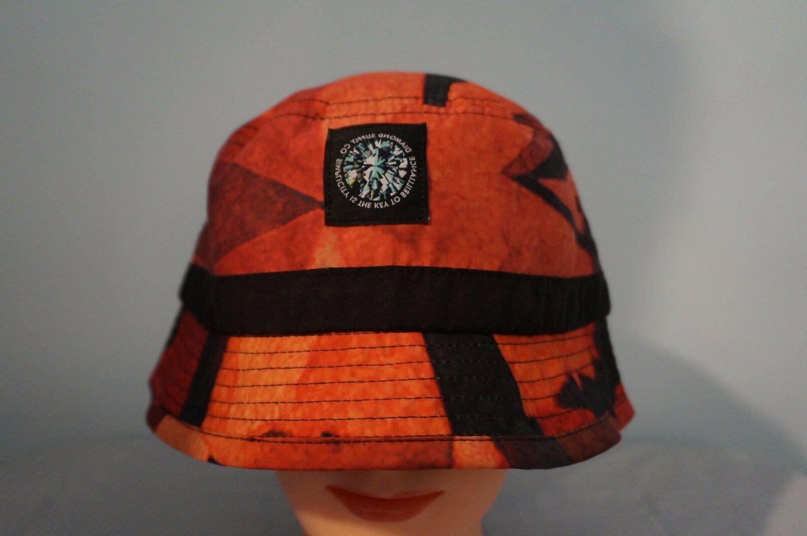 diamond supply co simplicity red bucket hat