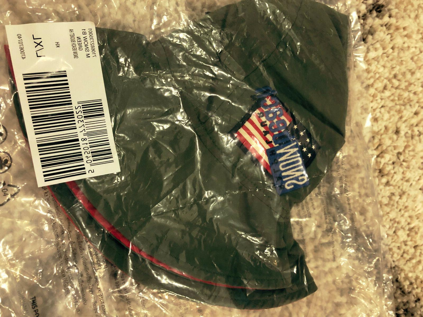 DS Ralph Lauren Gator Bucket Hat Snow Beach Red 92