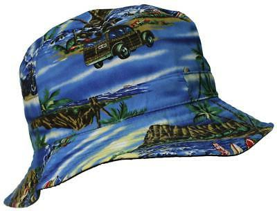 E-Flag Tropical/Hawaiian Cotton Blue