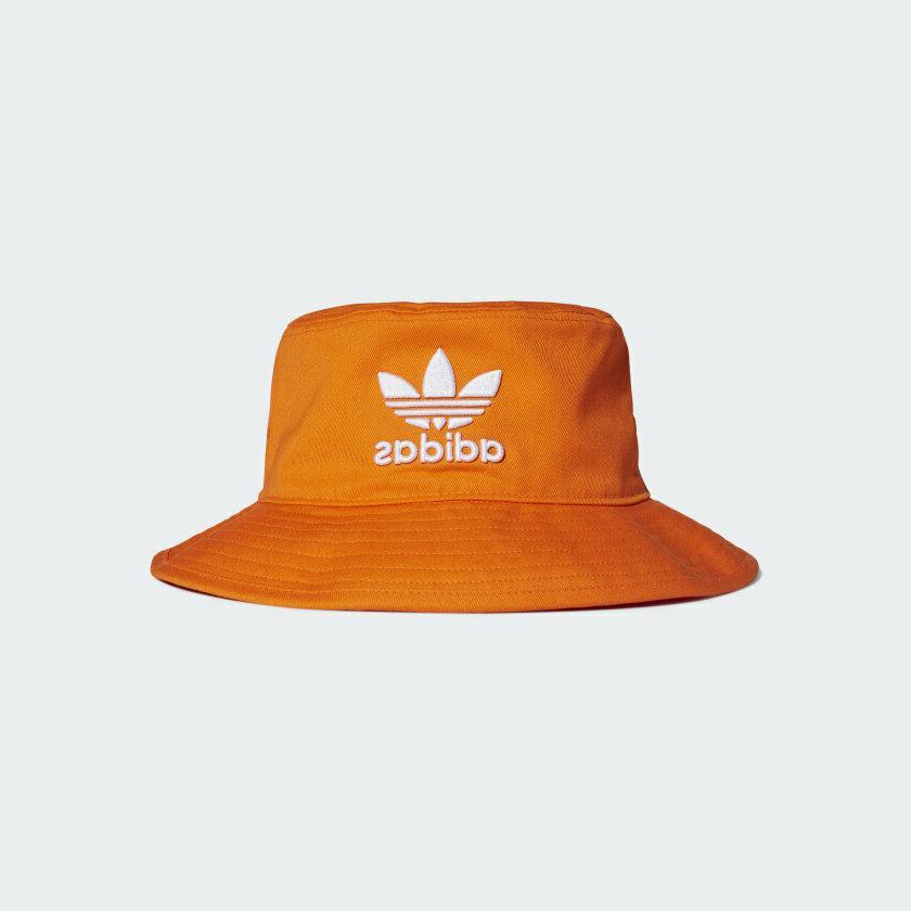 ed9385 originals adicolor bucket hat orange new