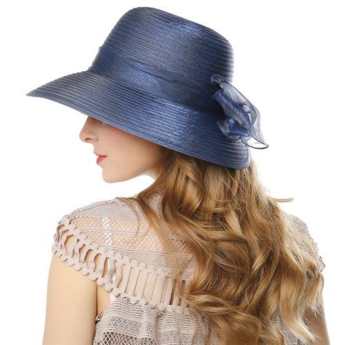 Elegant Women Dress Church Cloche Hat Bucket Wedding Bowler Cap