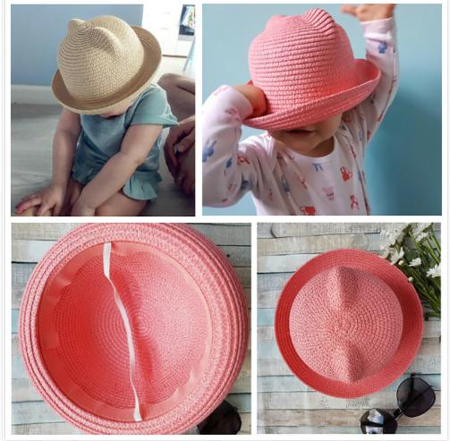 Fashion Ears Hats Baby For Girls Bucket Hat Boys Cap Children