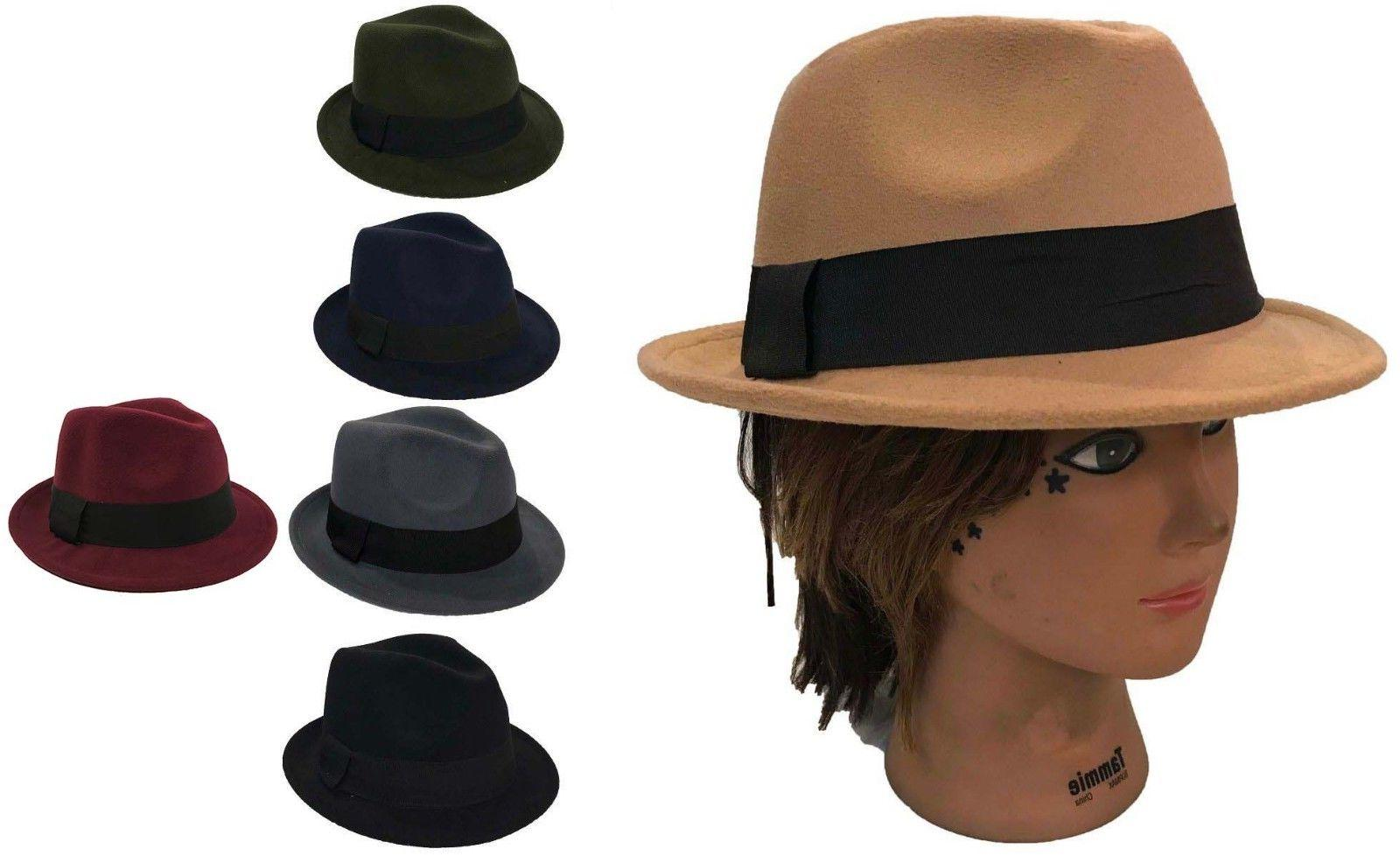 fedora trilby gangster fedora bucket hat men