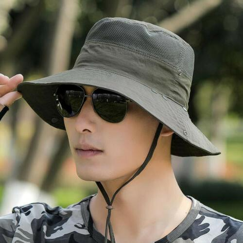 Fishing Bucket Hat Sport Sun Face Flap