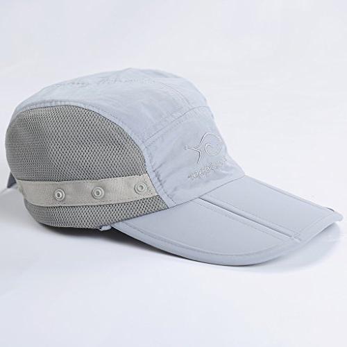 DDYOUTDOOR Fishing Cap Face Flap Hat Gray