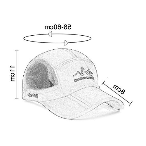 Panegy Outdoor Fishing Cap UPF Mesh Brim Sun Hat Hiking Solid Sring Quick Baseball Hat